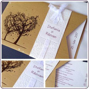 Invitatii elegante nunta cu plic de la Simonne