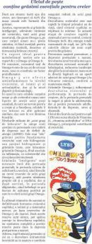Supliment alimentar Ulei din ficat de cod pentru copii de la Saga Sanatate