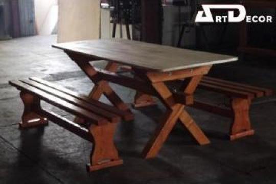 Set mese si banci din lemn