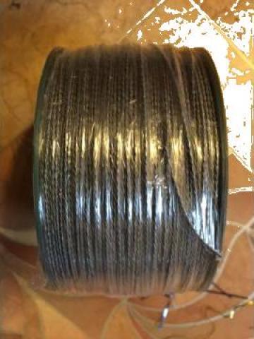 Cablu otel zincat plastifiat, rola=200 ml de la Baza Tehnica Alfa Srl
