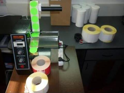 Automat dispenser de etichete rotunde