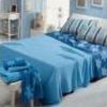 Lenjerie de pat albastra pentru spital