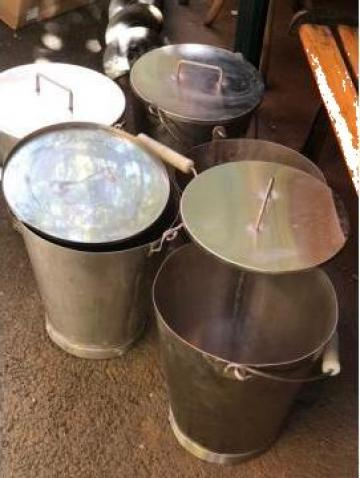 Galeti inox cu capac 10 litri cu capac de la Baza Tehnica Alfa Srl