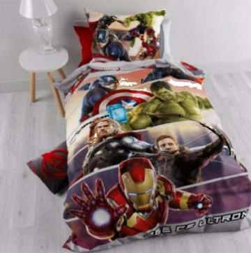 Lenjerie pat bumbac baieti DBO Avengers de la Best Media Style Srl