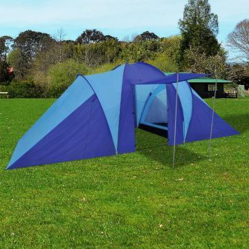 Cort camping 6 persoane, bleumarin/albastru deschis de la Vidaxl