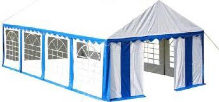 Cort petreceri 4 x 8 m albastru/alb de la Vidaxl