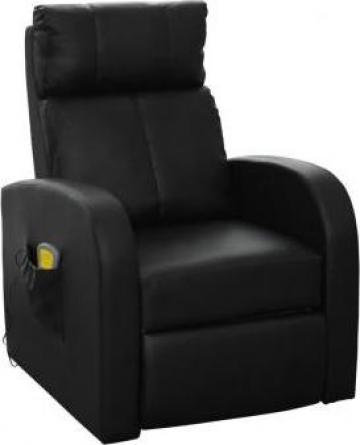 Fotoliu electric pentru masaj cu telecomanda Negru de la Vidaxl