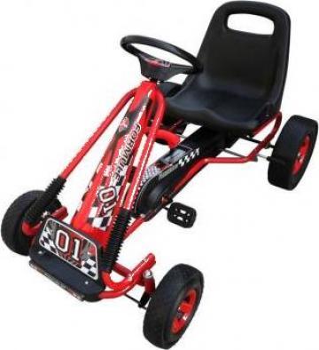 Jucarie kart copii cu pedale si scaun reglabil Rosu