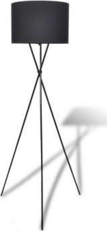 Lampa de podea cu abajur si stativ, negru