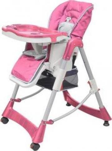 Scaun de masa pentru bebelusi roz