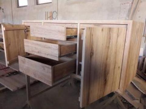 Corp mobila din stejar vechi 3 sertare de la Menco-prod Srl