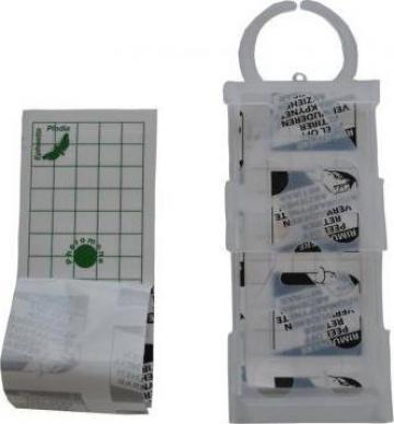 Capcana adeziva anti molii de cereale cu feromoni Geo Pad de la Agan Trust Srl