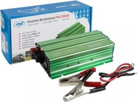 Invertor de tensiune PNI L500W alimentare duala 12V/24V de la Electro Supermax Srl