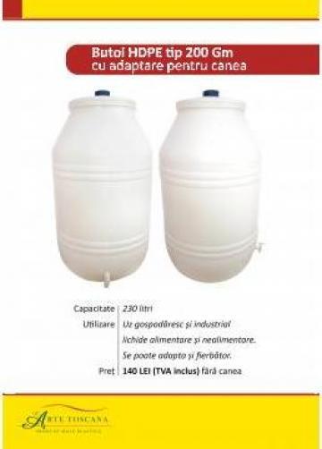 Butoaie plastic pentru vin de la L Arte Toscana Plast Srl.