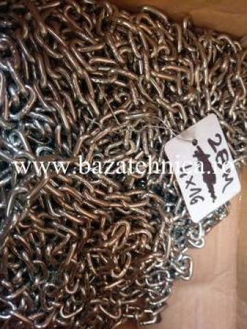 Lant de ridicare din inox za-4x16 mm, DIN 766 de la Baza Tehnica Alfa Srl