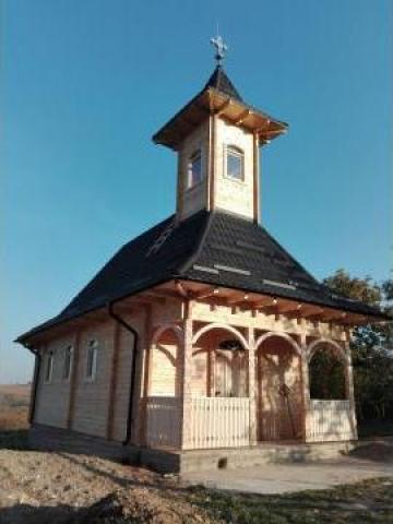 Biserica din lemn de brad Oradea C 200 de la Sc Home Lemn Srl