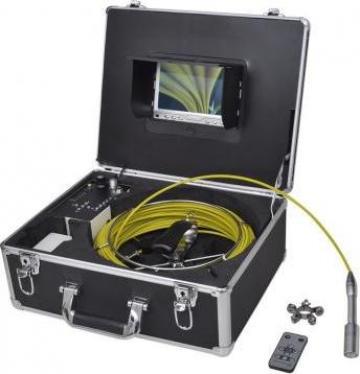 Camera inspectie conducte 30 m cu comanda DVR de la Vidaxl