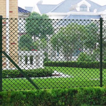Gard de sarma 1 x 15 m verde cu stalpi si accesorii