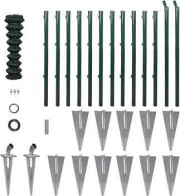 Set gard de sarma cu stalpi cu pivot si accesorii 0,8 x 25 m