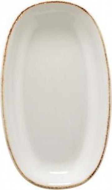 Farfurie ovala portelan Bonna colectia Retro 19x11cm de la Basarom Com