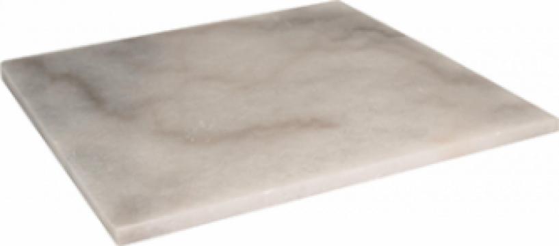 Platou servire marmura patrat 25x25xh1cm de la Basarom Com