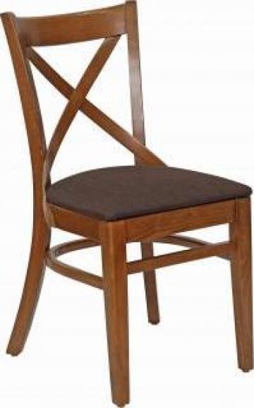 Scaun din lemn cu tapiterie Oxford de la Uv Furniture Sa