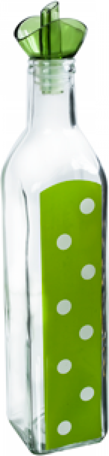 Sticla ulei masline M-151249 500ml verde cu buline de la Basarom Com