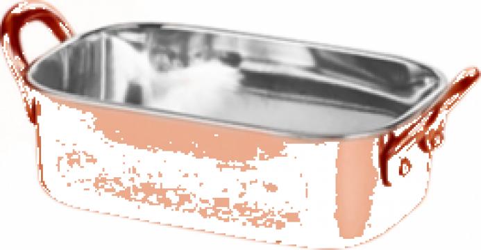 Roaster dreptunghiular Raki inox cu strat cupru 350ml