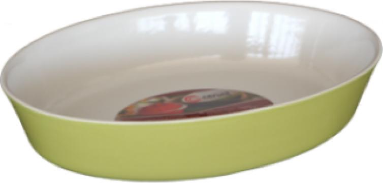 Tava ceramica oval Cerutil 32x25x6,5cm verde de la Basarom Com