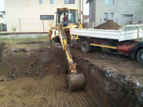 Excavatii generale si sapaturi fundatii de la Trans Udroiu Srl