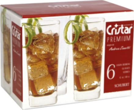 Set 6 pahare whisky 349cc Cristar Schubert de la Basarom Com