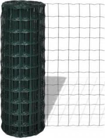 Gard euro cu plasa din otel 25 x 1,7 m 100 mm