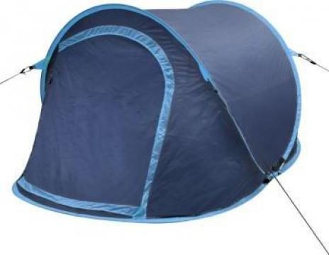 Cort pentru camping 2 persoane bleumarin / albastru deschis de la Vidaxl
