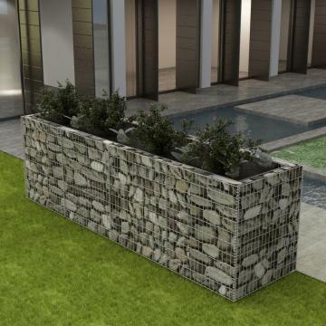Jardiniera pentru plante, otel, 360x90x100 cm