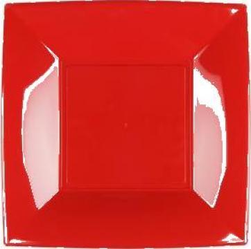 Farfurie rosie Gold Plast  23x23 cm PP set 25