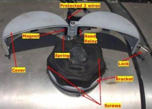 Capac antifurt rezervor motorina cu lacat si senzor On-Off de la Daas Group Srl