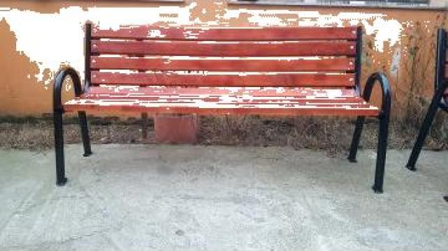 Banca de parc din fag de la Ygrocris Dorally Steel Srl