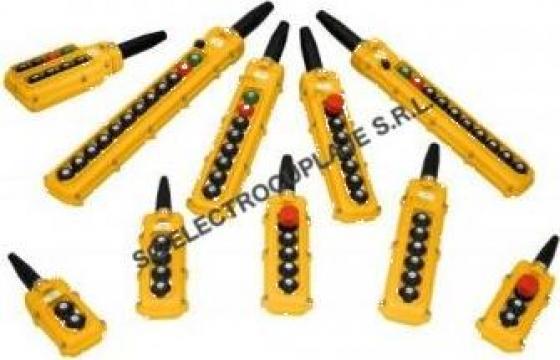 Cutie comanda 4 butoane + avarie + cheie pod rulant / macara de la Electrotools