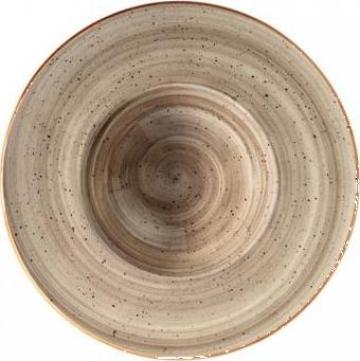 Farfurie pentru paste din portelan Bonna colectia Terrain de la Basarom Com