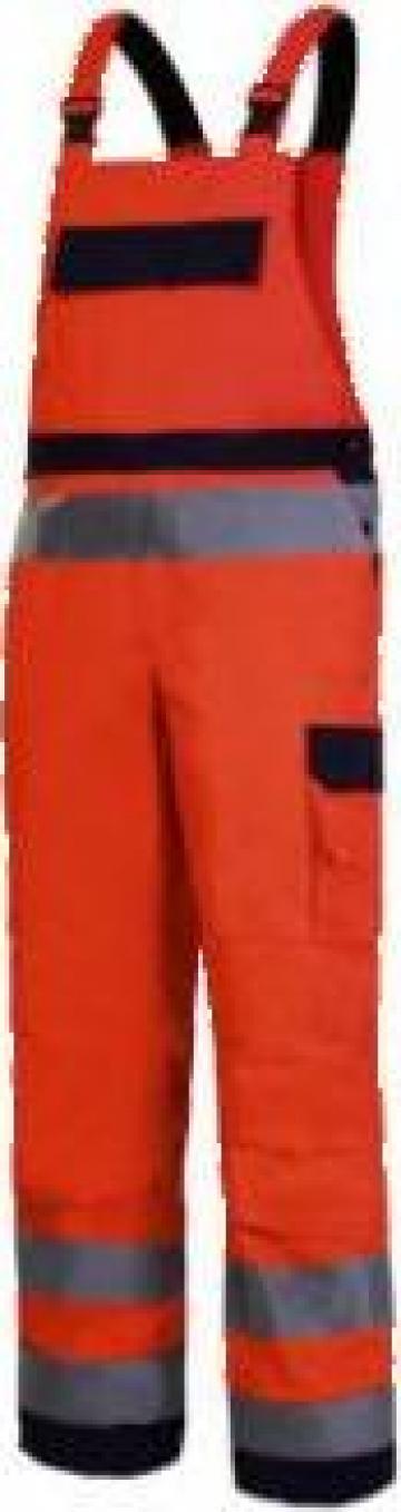 Salopeta reflectorizanta premium / portocaliu