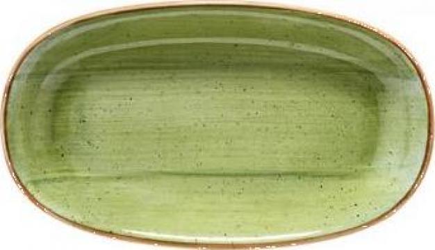 Farfurie ovala din portelan Bonna colectia Therapy 19x11cm de la Basarom Com