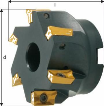 Cap de frezare 90 grade D100mm 8 taisuri pentru APKT16 de la Electrotools