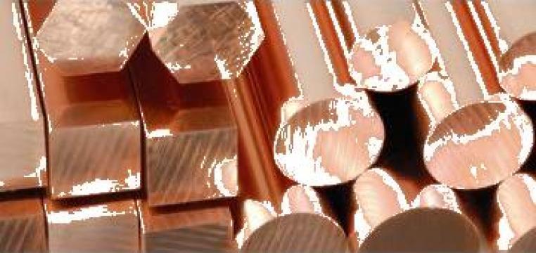 Bara bronz Bz12 drepunghiulara de la Electrofrane