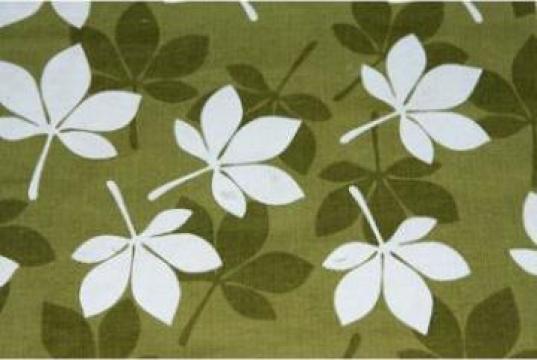 Fata de masa bumbac 150x150cm, frunza alb, verde de la Basarom Com