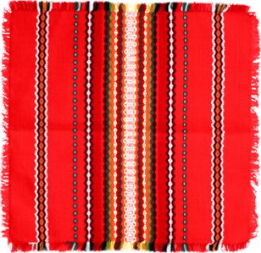 Fata de masa din bumbac 140x140cm rosie de la Basarom Com