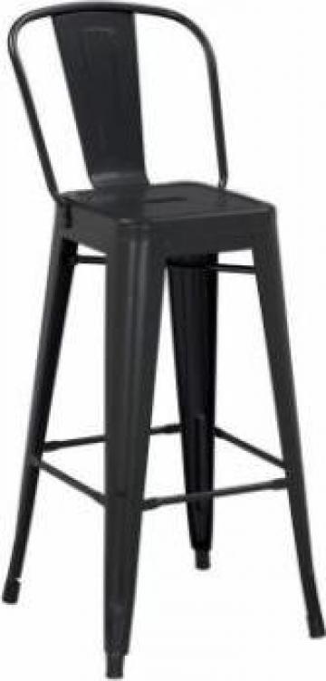 Scaun pentru bar Antique 46x43x107cm Black Matte lemn/metal de la Basarom Com