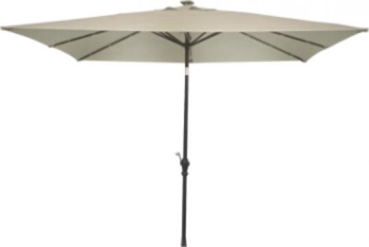 Umbrela soare patrata 300x300cm culoare bej de la Basarom Com