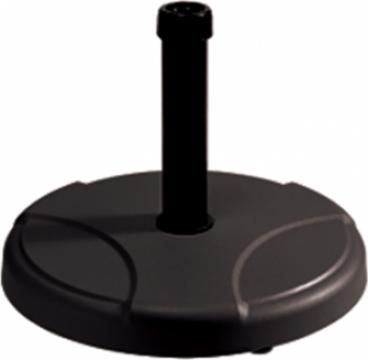 Suport rotund umbrela soare 25kg, culoare neagra de la Basarom Com