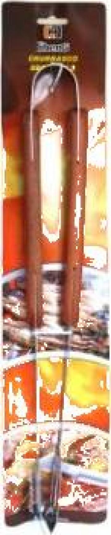 Cleste pentru gratar Raki maner lemn de la Basarom Com