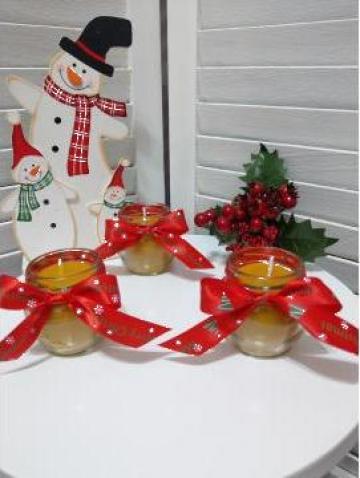 Lumanari din ceara Merry Christmas de la Cherciu I. Madgalina Pfa